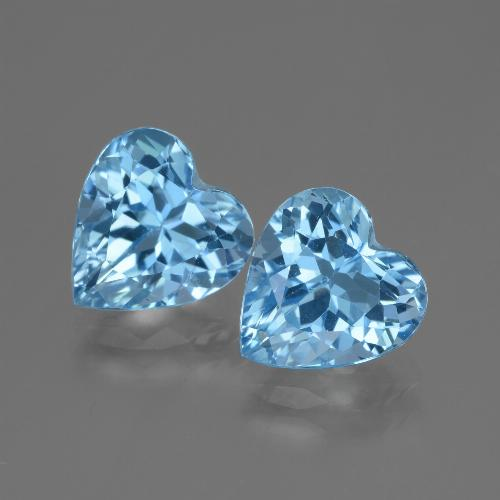 Swiss Blue Topaz Gem - 3.2ct Heart Facet (ID: 448189)