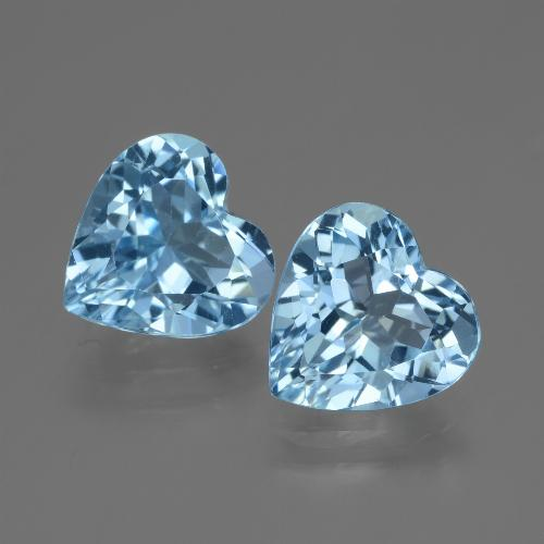 Swiss Blue Topaz Gem - 2.9ct Heart Facet (ID: 448190)