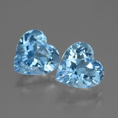 3ct Heart Facet Sky Blue Topaz Gem (ID: 448191)