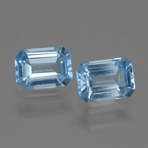 Swiss Blue Topaz Gem - 1.2ct Octagon Step Cut (ID: 448247)
