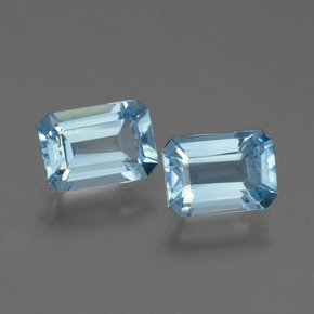 Swiss Blue Topaz Gem - 1.2ct Octagon Step Cut (ID: 448295)