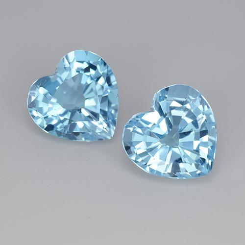3.2ct Heart Facet Sky Blue Topaz Gem (ID: 448315)