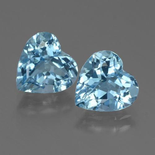 2.9ct Heart Facet Sky Blue Topaz Gem (ID: 448319)