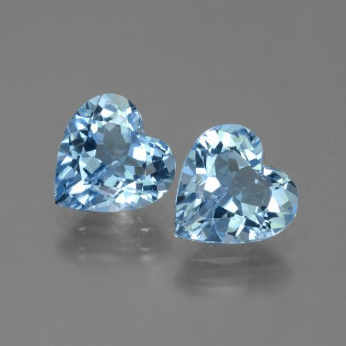 Swiss Blue Topaz Gem - 2.7ct Heart Facet (ID: 448338)