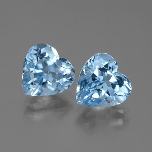 thumb image of 3.2ct Heart Facet Swiss Blue Topaz (ID: 448343)