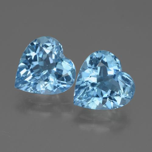 2.9ct Heart Facet Sky Blue Topaz Gem (ID: 448364)