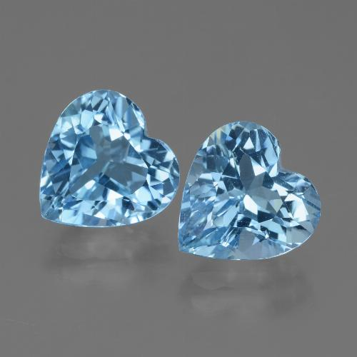 3.1ct Heart Facet Sky Blue Topaz Gem (ID: 448366)