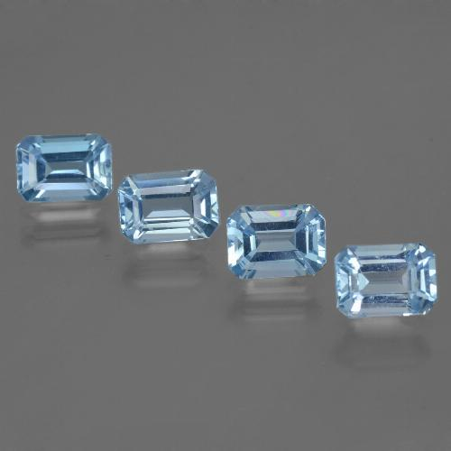 Swiss Blue Topaz Gem - 1.2ct Octagon Step Cut (ID: 448384)