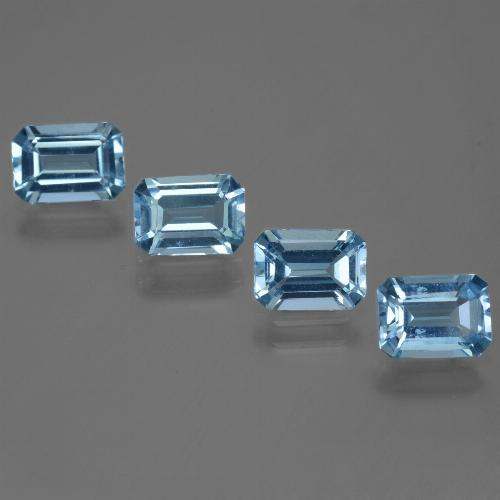 Swiss Blue Topaz Gem - 1.1ct Octagon Step Cut (ID: 448386)