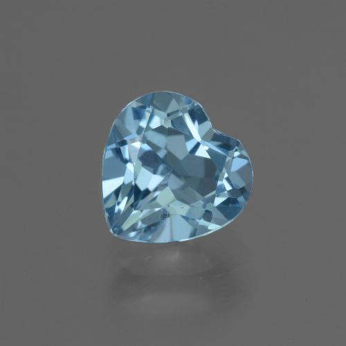 Deep Maya Blue Topaz Gem - 3.1ct Heart Facet (ID: 448416)