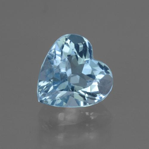 3.2ct Heart Facet Sky Blue Topaz Gem (ID: 448420)