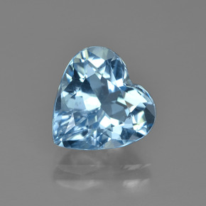 Swiss Blue Topaz Gem - 4.2ct Heart Facet (ID: 448657)