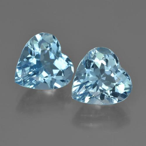 Swiss Blue Topaz Gem - 4.3ct Heart Facet (ID: 448698)