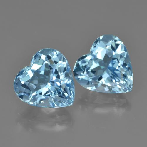 Swiss Blue Topaz Gem - 4.3ct Heart Facet (ID: 448699)
