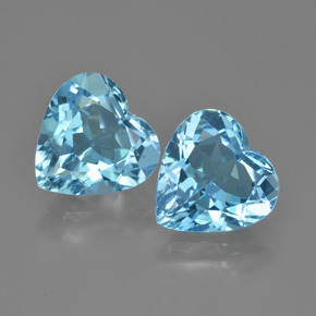 Swiss Blue Topaz Gem - 3.9ct Heart Facet (ID: 448751)