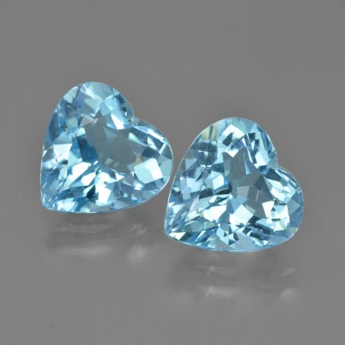 Swiss Blue Topaz Gem - 4ct Heart Facet (ID: 448752)