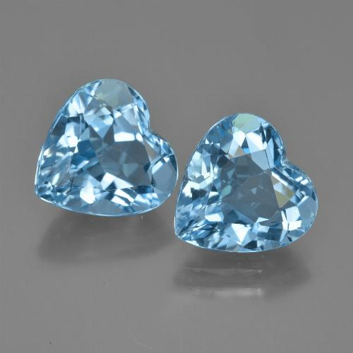 Swiss Blue Topaz Gem - 4ct Heart Facet (ID: 448755)
