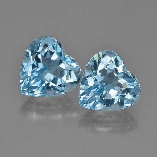 Swiss Blue Topaz Gem - 4.2ct Heart Facet (ID: 448756)