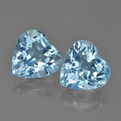 Swiss Blue Topaz Gem - 4.2ct Heart Facet (ID: 448800)