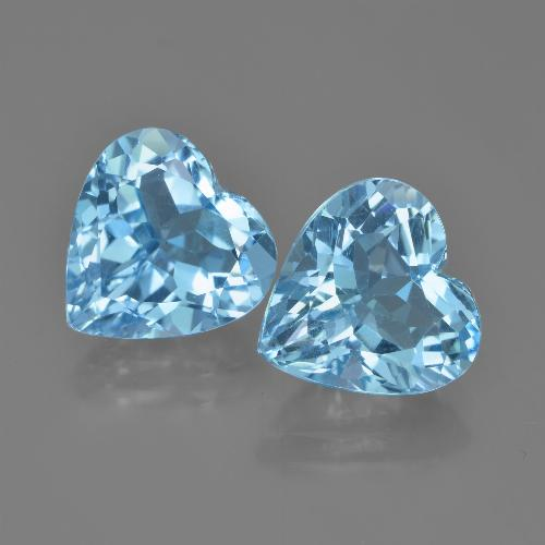 Swiss Blue Topaz Gem - 4.2ct Heart Facet (ID: 448804)