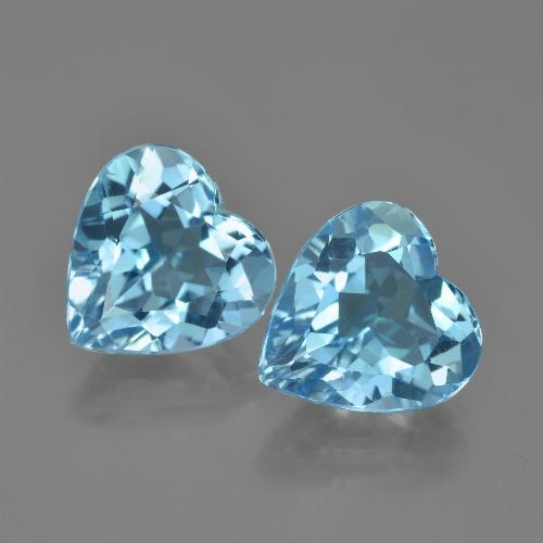 Swiss Blue Topaz Gem - 4.2ct Heart Facet (ID: 448842)