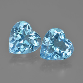 Swiss Blue Topaz Gem - 4.1ct Heart Facet (ID: 448843)