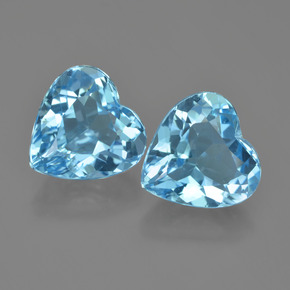 Swiss Blue Topaz Gem - 4.3ct Heart Facet (ID: 448847)