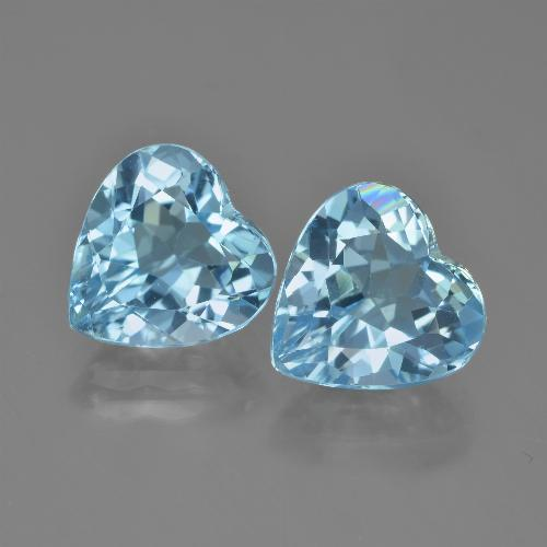 Swiss Blue Topaz Gem - 4.3ct Heart Facet (ID: 448849)