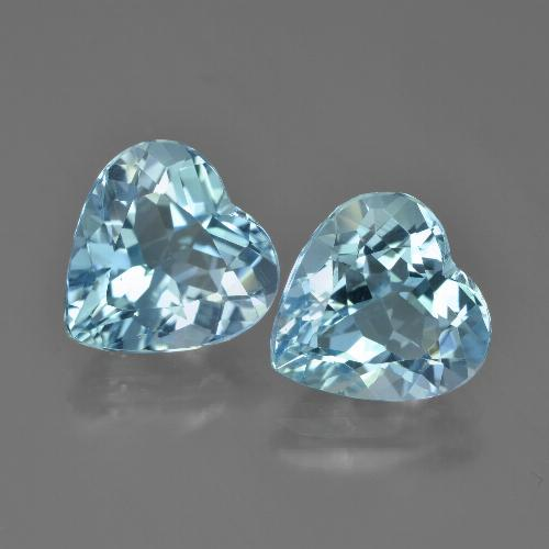 Swiss Blue Topaz Gem - 4ct Heart Facet (ID: 448850)