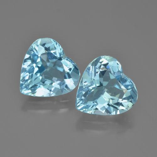 Swiss Blue Topaz Gem - 3.8ct Heart Facet (ID: 448851)
