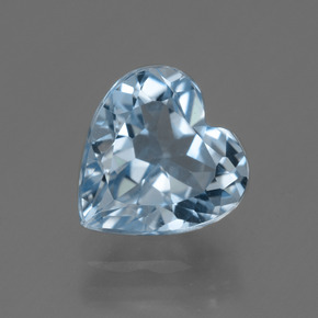 Swiss Blue Topaz Gem - 3.8ct Heart Facet (ID: 448897)