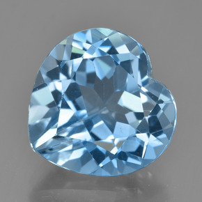 Light Cyan Blue Topacio Gema - 8.7ct Forma de corazón (ID: 448947)