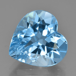 Swiss Blue Topaz Gem - 8.4ct Heart Facet (ID: 448994)