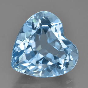 Swiss Blue Topaz Gem - 8.4ct Heart Facet (ID: 449035)