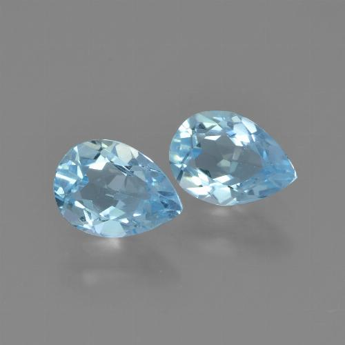 Light Cyan Blue Topacio Gema - 0.8ct Corte en forma de pera (ID: 449996)