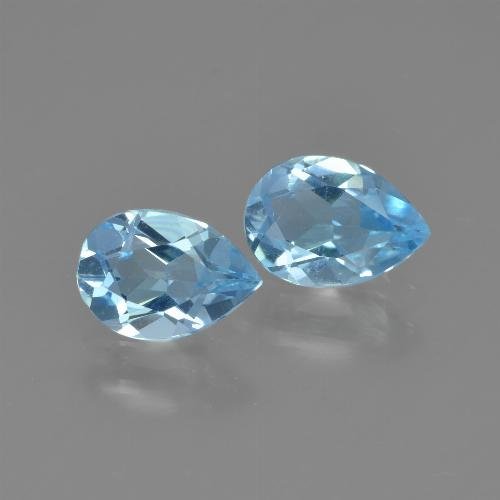 Swiss Blue Topaz Gem - 0.8ct Pear Facet (ID: 449999)