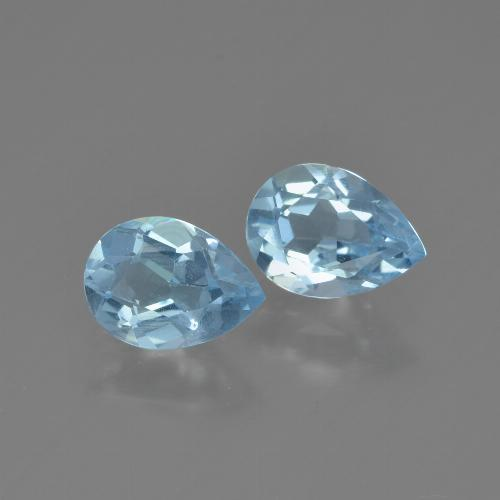 Maya Blue Topaz Gem - 0.7ct Pear Facet (ID: 450000)