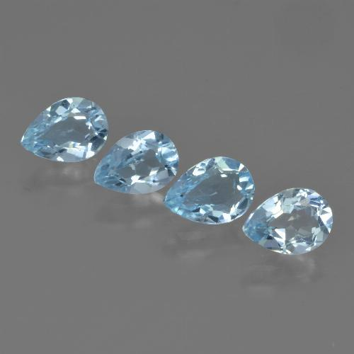Swiss Blue Topaz Gem - 0.8ct Pear Facet (ID: 450042)