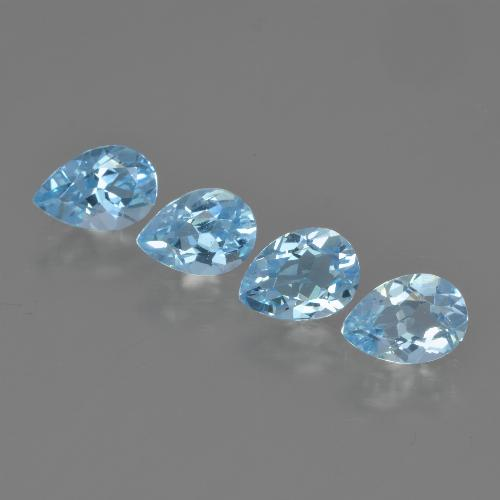 Swiss Blue Topaz Gem - 0.8ct Pear Facet (ID: 450043)