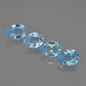 Swiss Blue Topaz Gem - 0.8ct Pear Facet (ID: 450049)