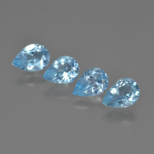 Swiss Blue Topaz Gem - 0.7ct Pear Facet (ID: 450051)