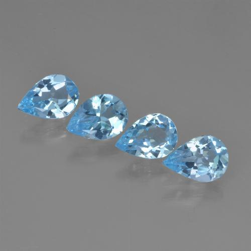 Swiss Blue Topaz Gem - 0.7ct Pear Facet (ID: 450210)