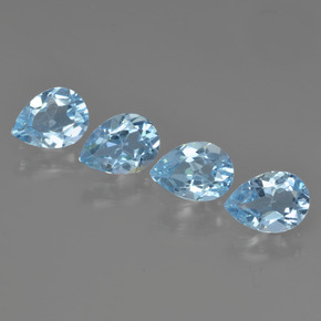 Swiss Blue Topaz Gem - 0.8ct Pear Facet (ID: 450215)