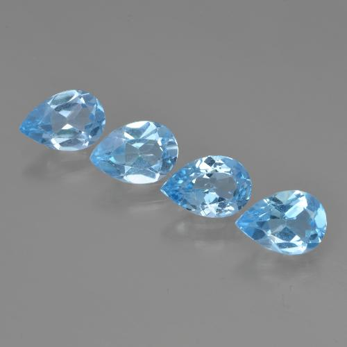 Swiss Blue Topaz Gem - 0.8ct Pear Facet (ID: 450216)