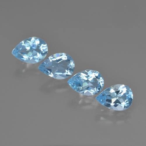 Swiss Blue Topaz Gem - 0.8ct Pear Facet (ID: 450220)