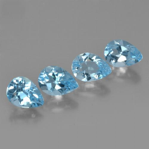 Swiss Blue Topaz Gem - 0.8ct Pear Facet (ID: 450259)