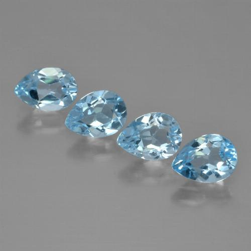 Swiss Blue Topaz Gem - 0.8ct Pear Facet (ID: 450262)