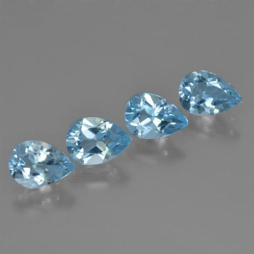 Swiss Blue Topaz Gem - 0.8ct Pear Facet (ID: 450265)