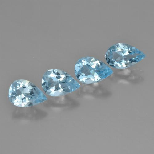 Swiss Blue Topaz Gem - 0.7ct Pear Facet (ID: 450266)