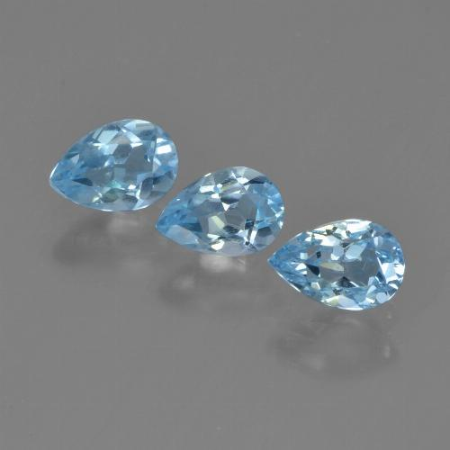 Swiss Blue Topaz Gem - 0.5ct Pear Facet (ID: 450326)